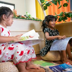 Doolandella Early Learning Centre - Children reading books