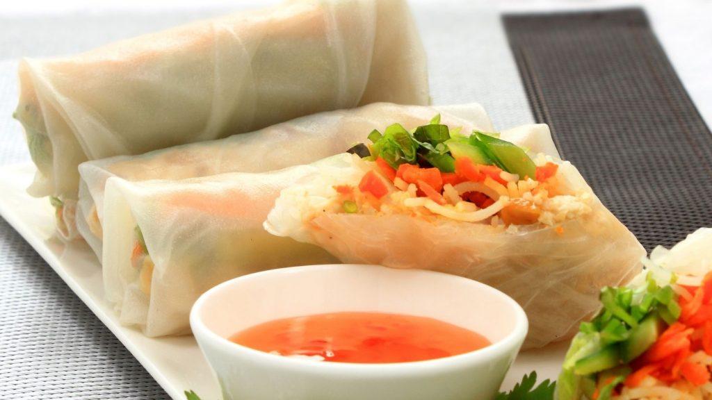 Chicken Rice Paper Rolls - Kid Friendly Recipe