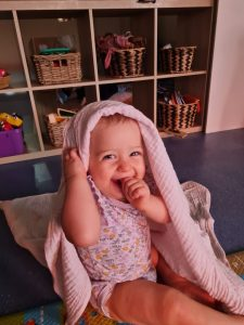 Baby smiling - Daisy Hill Early Learning Centre
