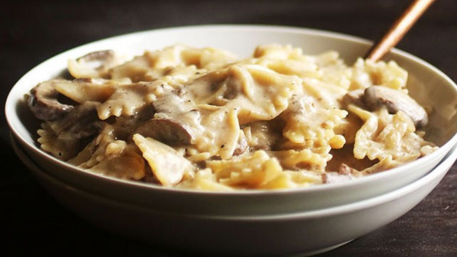 Vegetarian creamy mushroom pasta - Your Early Learning Centre