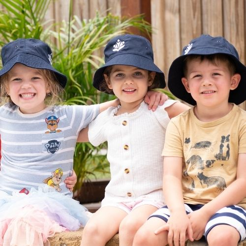 Kids with hats - Cannon Hill Early Learning Centre