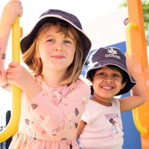 Kids Outdoor Smiling at the Camera - Cleveland Early Learning Centre