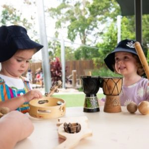 Kids Exploring Musical Instruments - Daisy Hill Early Learning Centre